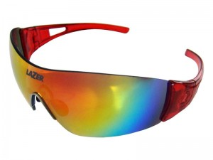 Okulary LAZER MAGNETO Crystal Red (Smoke-Black Red REVO, Yellow-Blue Mirror, Clear)